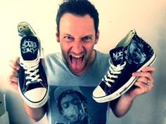 SPOTTED: #Mark with a  K with his #custom #made #Unickz #chucks #converse www.unickz.nl
