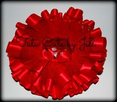 Sewn Christmas Red Tutu With Wide Red Satin Trim. Tutu Cute By Jill on Etsy