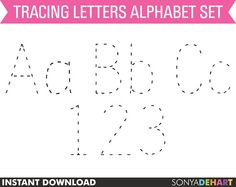 60 OFF Clipart Digital Alphabet Traced Dotted by SonyaDeHartDesign  https://www.etsy.com/listing/120619161/60-off-clipart-digital-alphabet-traced?ref=shop_home_active_20