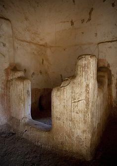 Old bathroom in a tradtional Najran house - Saudi Arabia
