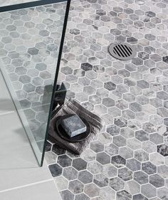 Lantau Grey Mosaic Hexagonal™ | Topps Tiles