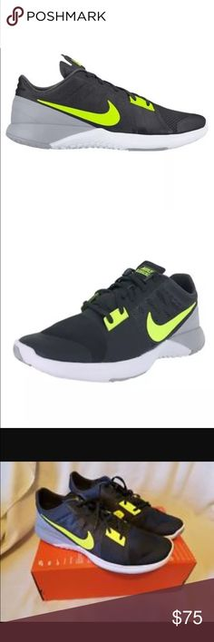 New in box! Men's Nike FS Lite Trainer - Size 9.5 Brand new in box. Nike FS Lite Trainer 3. Color: Gray/Volt. Size: 9.5 Nike Shoes Sneakers