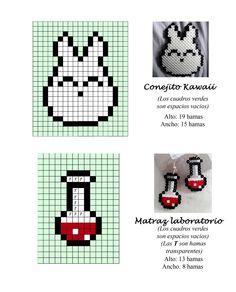 Conejito Kawaii - matraz laboratorio - hama beads pattern