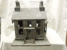 American Folk Art Tin House Model : Lot 4315 Cute small tin house. .....Rick Maccione-Dollhouse Builder www.dollhousemansions.com