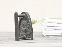 Antique French Sad Iron Chappee Flat Iron Rustic Houseware French Country Home Decor