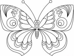 Butterfly Coloring Pages, Learn More About Butterfly Here. Butterfly coloring pages collection. Print a free selection of butterfly coloring and drawing for chi Quilling Butterfly, Butterfly Drawing, Butterfly Photos, Butterfly Embroidery, Embroidery Patterns, Butterfly Mobile, Paper Butterflies, Felt Patterns, Monarch Butterfly