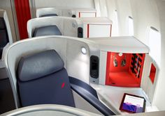 Inside - the Air France Business Class cabin