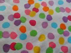 Image of Bright Dots on White Cotton Jersey