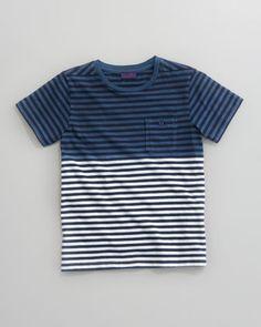 Paul Smith Delio Ombre Stripe Tee - Neiman Marcus