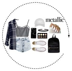"""""""An Instagram inspired outfit."""" by asilynn ❤ liked on Polyvore featuring Boohoo, WithChic, Rails, Converse, Humble Chic, Topshop and NYX"""