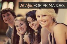 Tips for PR Majors #fashionpublicrelations