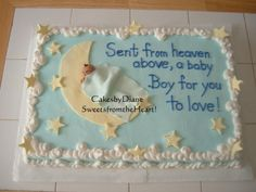 baby on moon By diane on CakeCentral.com