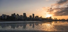 Low Tide Reflection    Purchase from www.ayrphotography.co/Durban-Africa-Prints-sale New York Skyline, Reflection, Landscapes, Africa, Celestial, Sunset, Prints, Travel, Outdoor