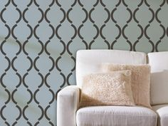 I like this stencil design for master bedroom, or front room