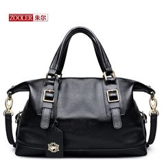 82.65$  Buy here - http://alip5d.worldwells.pw/go.php?t=32753746724 - ZOOLER 2017 new women bag genuine leather bags handbags women famous brands luxury button shoulder bag bolsa feminina#S-2923