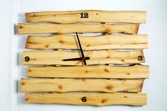 XXL Live edge natural rustic wall clock made of solid wood Ready to ship in 2 days