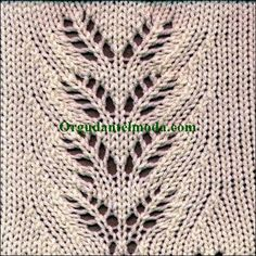 Stricken Rowan's Leaves Lace Pattern from Kathleen Kinder's book The Technique of… – Stricken Lace Knitting Stitches, Lace Knitting Patterns, Knitting Charts, Lace Patterns, Easy Knitting, Knitting Designs, Knitting Yarn, Knitting Projects, Stitch Patterns