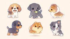 Ida 🐑 (@floofyfluff) / Twitter Baby Animal Drawings, Cute Animal Drawings Kawaii, Cute Little Drawings, Cute Cartoon Drawings, Cute Dog Cartoon, Bird Drawings, Cute Kawaii Animals, Cute Baby Animals, Chibi Dog