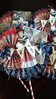 Fourth of July goodies created by Brenda Enright. Using Character Construction doll stamps by Catherine Moore.