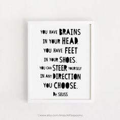 Inspirational Quotes art Dr. Seuss quotes Poster by ARTsopoomc