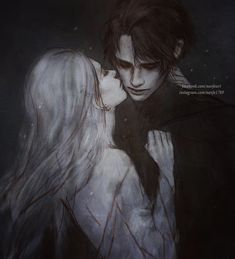 Alina and The Darkling from The Grisha Trilogy. By Nanfe.