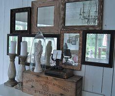 Conjunto de espejos antiguos