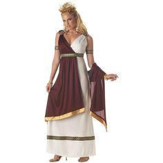 Ladies Roman Empress Toga Greek Goddess Fancy Dress Costume Elite Quality
