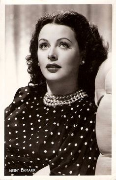 Hedy Lamarr (9 November 1914 – 19 January 2000), Austrian-born American actress and inventor. -  http://en.wikipedia.org/wiki/Hedy_Lamarr