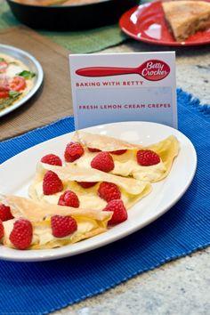 Creamy Lemon Blueberry Crepes Recipe — Dishmaps