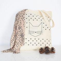 Cat Tote Bag - Petite Mila