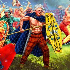 Gallic warrior spearman in battle, Gallic War