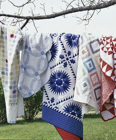 Red, White and Blue, pretty quilts