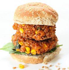 Easy Farro Veggie Burger Recipe