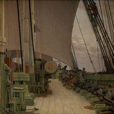 Korvetten Najadens styrbords batteri og dæk 1833