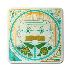 Design Life     letterpress coasters promo piece     Parliament of Owls, Cranky Pressman     2013