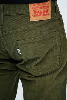 Shop Levi's 511 Cords in Burnt Olive at Urban Outfitters today. Retro Fashion, Latest Fashion, Mens Fashion, Levi Strauss & Co, Cords, Urban Outfitters, Trousers, Fitness, Model
