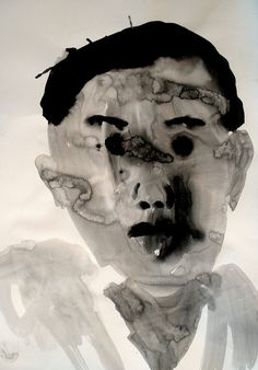 Shohei Hanazaki self-portrait Life Drawing, Figure Drawing, Starry Night Art, Human Art, Outsider Art, Japanese Artists, Art Sketchbook, Watercolor And Ink, Face Art