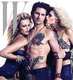 In Character: Stacee Jaxx, played by Tom Cruise, wears a bejewelled codpiece over his leather trousers and has a constant entourage of scantily clad girls