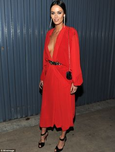 Nicole Trunfio stuns in a beautiful red dress