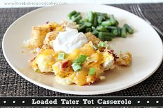 Loaded Tater Tot Casserole by lovebakesgoodcakes, via Flickr