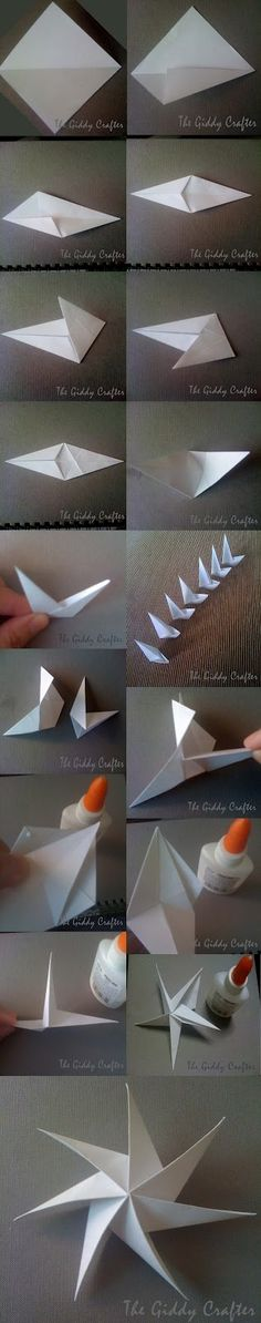 DIY 8-pt Origami Star with tutorial