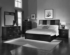 Cream paint colors for bedroom with dark furniture with wood