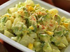Wasabi & Avocado Potato Salad; This Japanese-inspired potato salad with Fresh California Avocados is creamy and delicious, with a kick of heat from Kikkoman Wasabi Sauce.