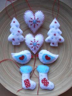Filc díszek | NLC Karácsony 2012 ötletek