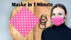 Maske für Mund & Nase in 1 Minute Facemask face mask diy Small Sewing Projects, Sewing Hacks, Sewing Crafts, Easy Face Masks, Diy Face Mask, Pocket Pattern, Free Pattern, Diy Couture, Diy Mask