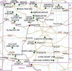 Map Of New Mexico Cities And Towns And Lakes New Mexico Maps And - New mexico map with cities