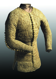 pourpoint: heavily padded and quilted, it was worn by soldiers under their armor so that they could be comfortable wearing their armor. Medieval Costume, Medieval Armor, Medieval Fashion, Medieval Clothing, Historical Costume, Historical Clothing, 15th Century Fashion, 14th Century, Renaissance