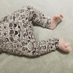 Handmade Sugar Skull Baby / Toddler Leggings