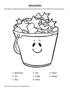 bucket filler coloring page 1000 images about activities printables on pinterest