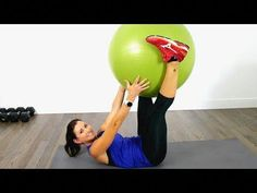 Side to side rise are a challenging but efficient weight-loss exercise. This video goes through a version of the workout for newbies and a more advanced variation of the exercise. Find out how to do Side to side push ups with this exercise video. Easy Ab Workout, Ab Core Workout, Abs Workout Video, Abs Workout Routines, Workout Ball, Ball Workouts, Quick Workouts, Exercise Ball, Workout Videos For Women